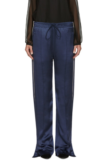 Chloé - Blue Silk Trousers