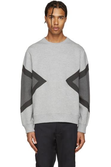 Neil Barrett - Grey Modernist Pullover