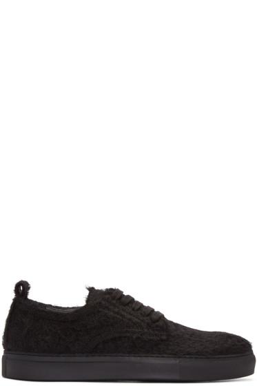 Ann Demeulemeester - Black Mohair Harrison Sneakers
