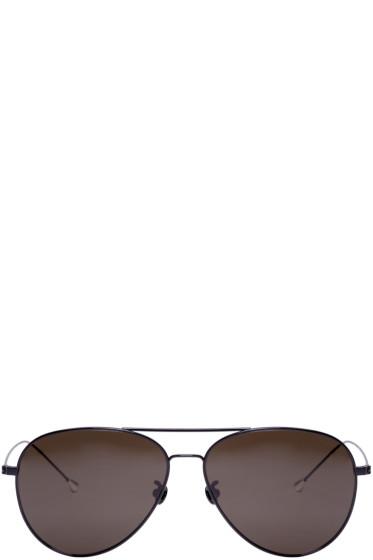 Ann Demeulemeester - Black Aviator 40 C1 Sunglasses