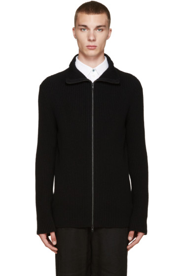 Ann Demeulemeester - Black Zip-Up Sweater