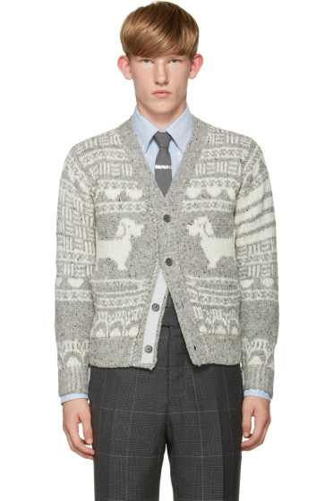 Thom Browne - Grey Hector Fair Isle Cardigan