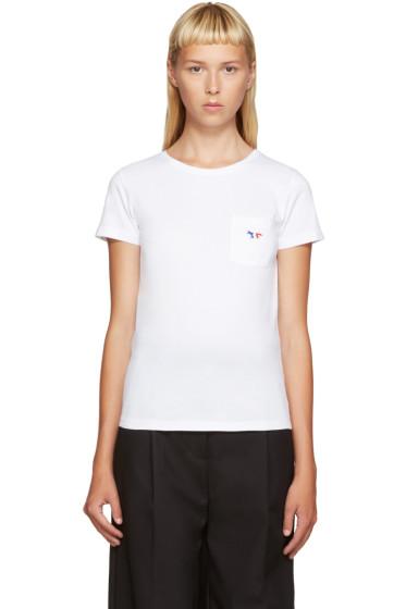 Maison Kitsuné - White Fox Logo T-Shirt
