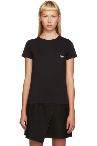 Maison Kitsuné - Black Fox Logo T-Shirt