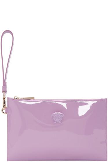 Versace - Purple Patent Small Medusa Pouch
