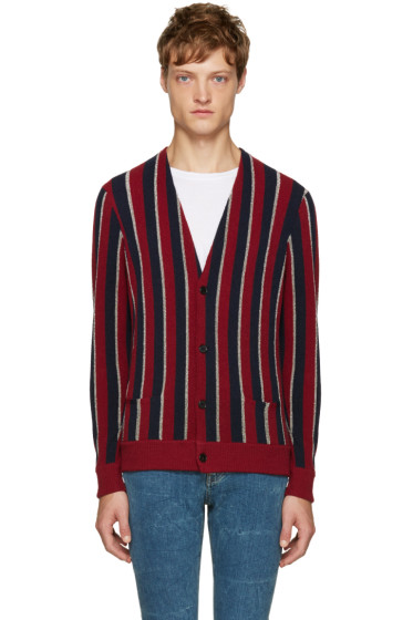 Saint Laurent - Tricolor Striped Cardigan
