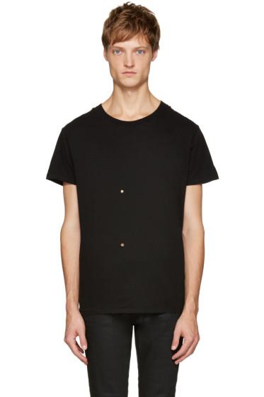 Saint Laurent - Black Grunge Destroyed T-Shirt