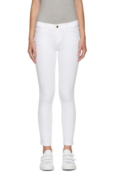 Frame Denim - White Cropped Le Color Jeans