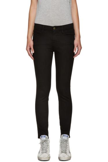 Frame Denim - Black Le Skinny De Jeanne Crop Jeans