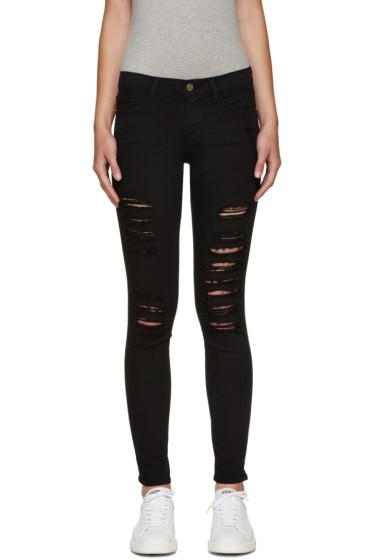 Frame Denim - Black Ripped Le Color Jeans