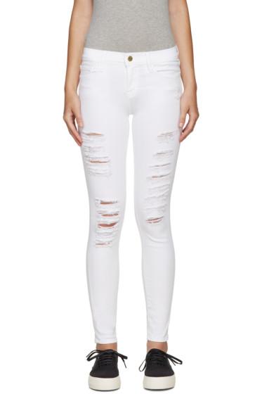 Frame Denim - White Distressed Le Color Jeans