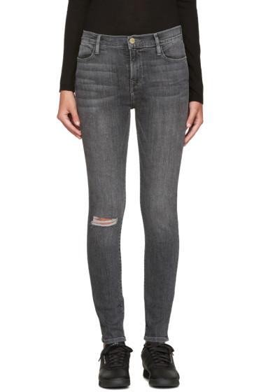 Frame Denim - Grey Le High Skinny Jeans