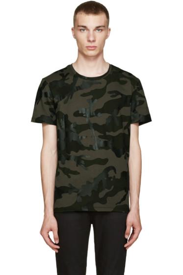 Valentino - Green Camo T-Shirt