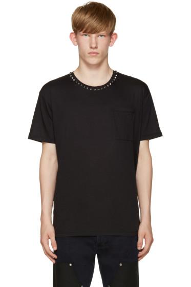 Valentino - Black Untitled Rockstud T-Shirt
