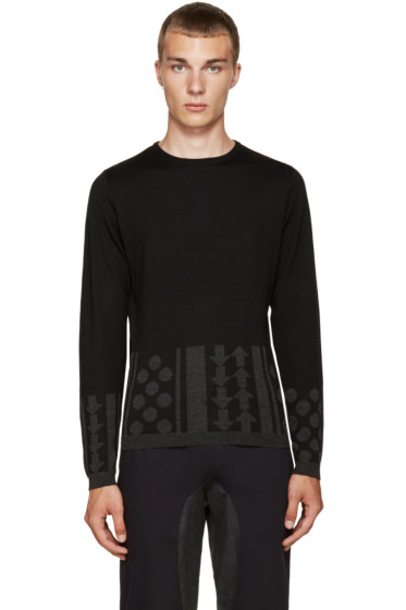 Kolor - Black Intarsia Sweater
