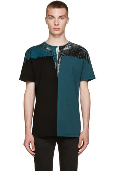 Marcelo Burlon County of Milan - Black & Turquoise Laguna Bravas T-Shirt