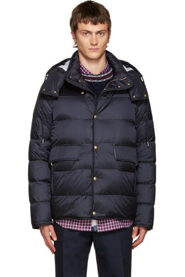Moncler Gamme Bleu - Blue Hooded Down Jacket