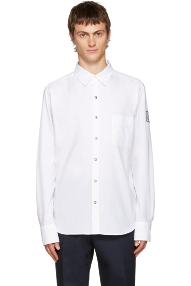 Moncler Gamme Bleu - White Button-Down Shirt