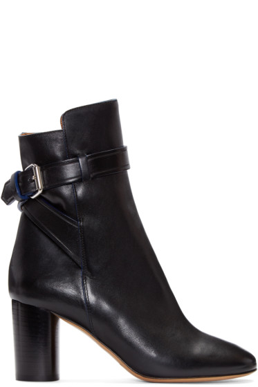 Isabel Marant - Black Leather Reaves Heeled Boots
