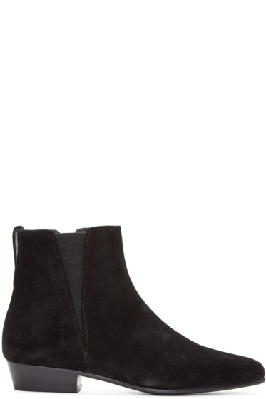 Isabel Marant - Black Suede Patsha Boots