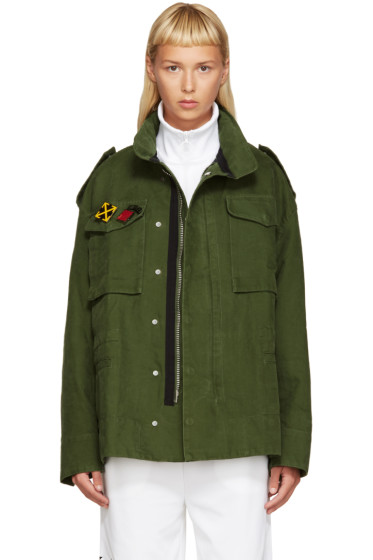 Off-White - Green M65 Military Jacket