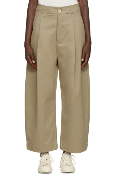 Studio Nicholson - Khaki Wide-Leg Bonnard Trousers
