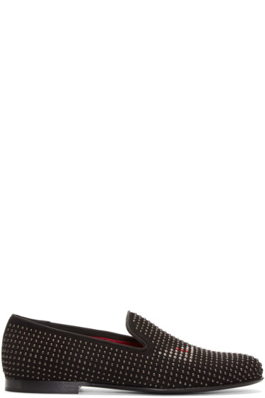 Fendi - Black Studded Monster Eyes Loafers