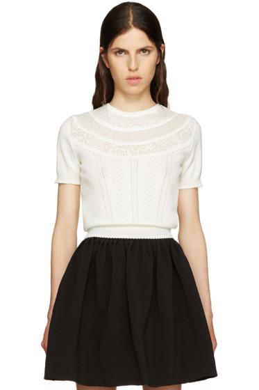 Miu Miu - Ivory Pointelle Sweater