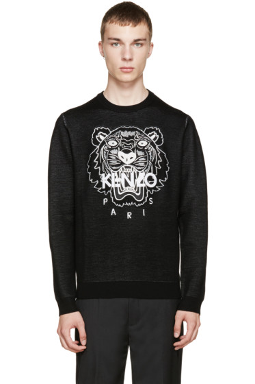 Kenzo - Black Knit Tiger Sweater