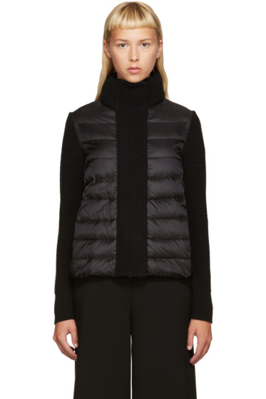 Moncler - Black Down & Knit Jacket