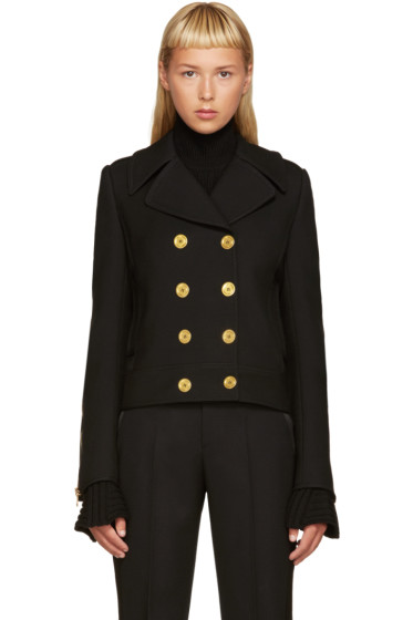 Alexander McQueen - Black Double-Breasted Jacket