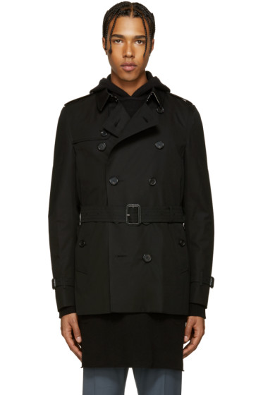 Burberry - Black Sandringham Trench Coat