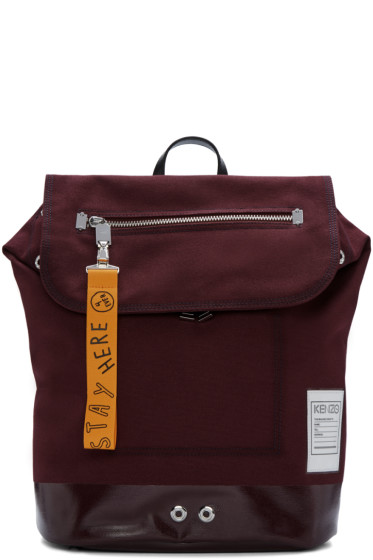Kenzo - Burgundy Pull-Tab Backpack
