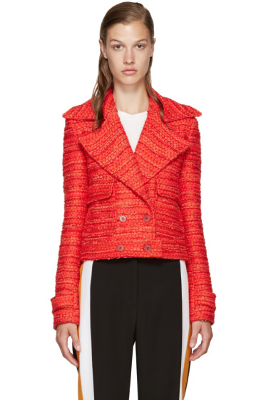 Altuzarra - Red Tweed Newport Jacket