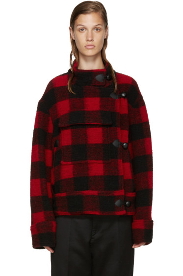Isabel Marant Etoile - Black & Red Fred Coat