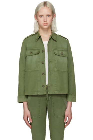 Amo - Green Army Shirt Jacket