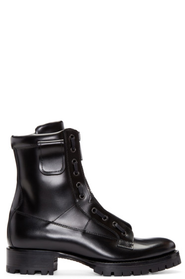 Dsquared2 - Black Leather Asylum Boots