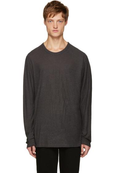 T by Alexander Wang - Grey Pilled T-Shirt
