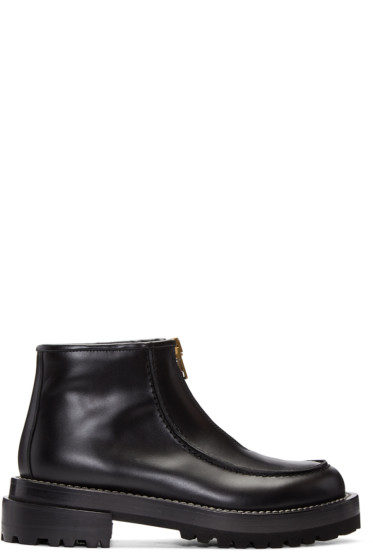 Marni - Black Zip Ankle Boots