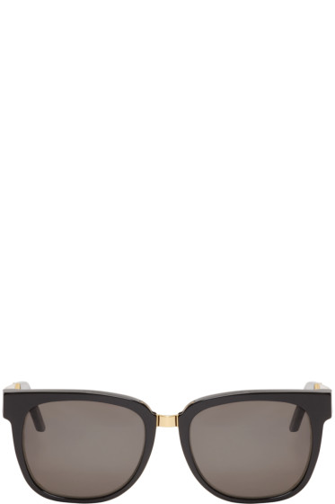 Super - Black & Gold People Francis Sunglasses