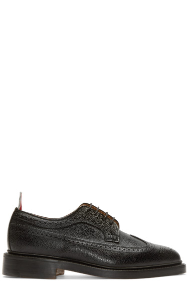Thom Browne - Black Leather Longwing Brogues