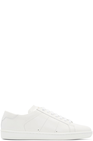 Saint Laurent - White Leather Court Classic Sneakers