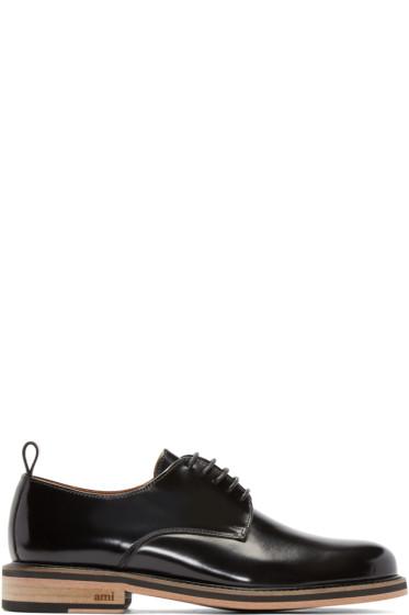 AMI Alexandre Mattiussi - Black Leather Derbys