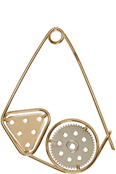 Loewe - Gold Meccano Double Brooch