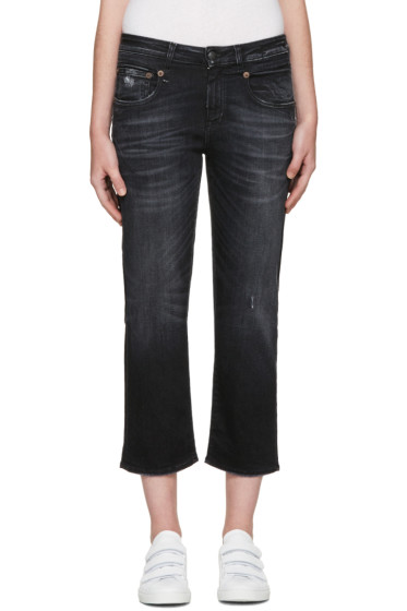 R13 - Black Boy Straight Jeans