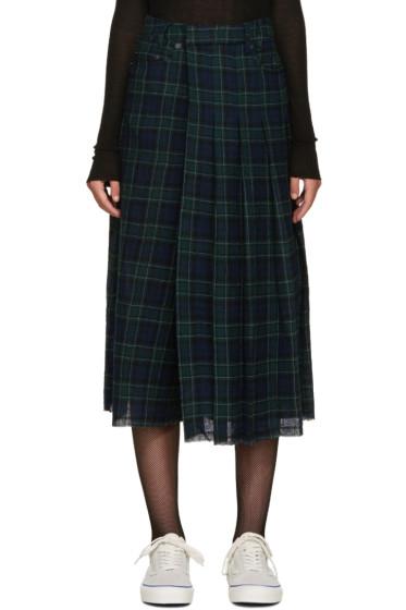R13 - Green Tartan Mock Kilt Culottes