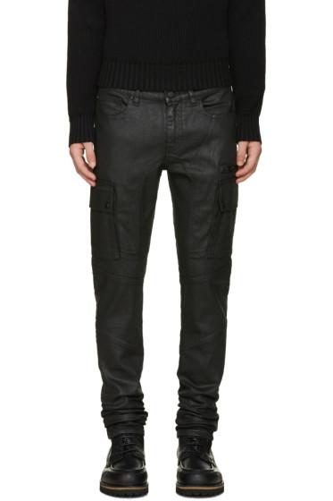 Belstaff - Black Oversprayed Jeans