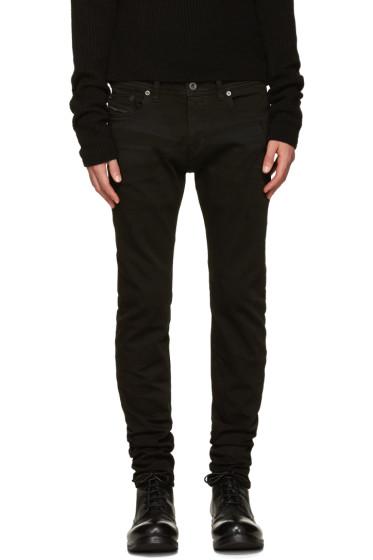 Diesel Black Gold - Black Whiskered Skinny Jeans
