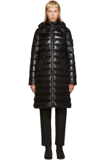 Moncler - Black Down Long Moka Coat