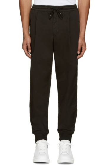 McQ Alexander Mcqueen - Black Chino Trackpant Trousers